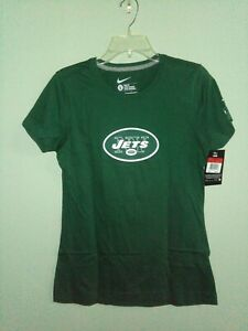 NIKE NY JETS TEBOW 15 WOMEN'S T-SHIRT GREEN SLIM FIT XL 100% COTTON BRAND NEW