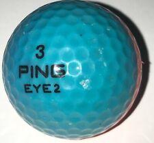 1 Vintage Two Tone Ping Eye 2 Karsten Teal & Orange Golf Ball (D-4-7)