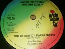 "SARAH BRIGHTMAN * I LOST MY HEART TO A STARSHIP TROOPER * 7"" SINGLE EXCELLENT"