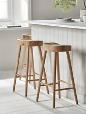 Cox & Cox Kitchen Bar Elegant Weathered Oak Counter Stool - RRP £195