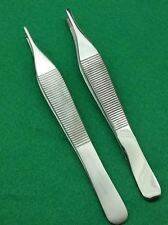 """SET OF 2 ASSORTED ADSON TISSUE + ADSON BROWN FORCEPS 4.75"""" SURGICAL INSTRUMENTS"""