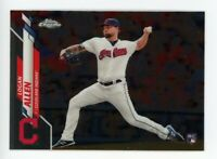 2020 Topps Chrome #155 LOGAN ALLEN Cleveland Indians REAL LOGO ROOKIE CARD RC