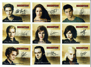 Twilight New Moon Inscription Series Complete Set of 10 Facsimile Autograph Card