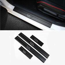 4Pcs Black Aluminum Alloy Door Sill Scuff Plate Guards For Honda Civic 2016-2018