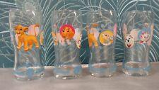4 Verres Disney animal friends : Aristochats , Roi Lion , Rox & Rouky , Panpan
