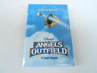 VINTAGE PROMO PINBACK BUTTON #89-139 - MOVIE - ANGELS IN THE OUTFIELD - DISNEY