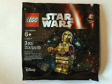 LEGO STAR WARS POLYBAG 5002948 C-3PO NEUF SCELLE BRAS ROUGE