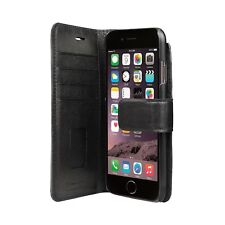 Genuine Bugatti Full Grain Leather Booklet Wallet Case Stand For iPhone 8 7 6s 6