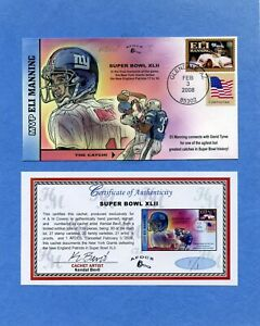 Super Bowl XLII Bevil (H&M) HD & HP Cachet First Day Cover AFDCS Proof 1 / 1