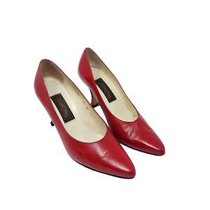 Sesto Meucci Ole Women's Vintage Red Pumps Size 5.5 M Made in Italy #4722REDKD