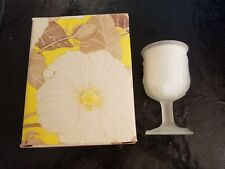 New Avon Flowerfrost Collection Water Goblet w/Candle Glass Vintage