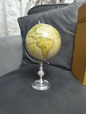 VINTAGE STYLE WORLD GLOBE WOODEN STAND DESK ORNAMENT