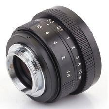 Mirrorless 25mm F1.4 C-Mount Lens for APS-C Camera M4/3 FX EOSM N1 P/Q NEX