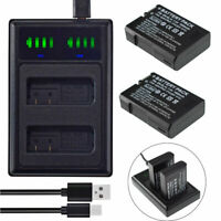 2 EN-EL14A Battery +LED Charger for NIKON CoolPix D3300 D3400 D3500 D5500 D5600