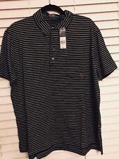 NWT $79.50 Men's Polo Ralph Lauren Black/white Stripe Size XL W/anchor On Pocket