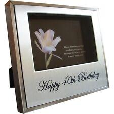 40th Birthday Photo Frame / 40th Gift Idea / Keepsake / Engravable Picture Frame