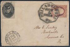 #15L18, #26 ON COVER PHILADELPHIA, PA NOV 5TH,1858 CANCEL CV $350 BT5377