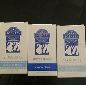 NEW! Scentsy Laundry Dryer Disk Windowsill Breeze, Scentsy Clean & Clothesline