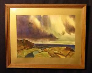 Beautiful Watercolor Painting of a Seascape Attr. to J. Steinburg