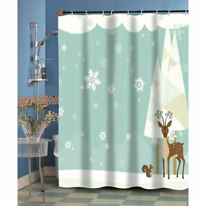 """Carnation Home """"Forest Friends"""" Fabric Shower Curtain"""