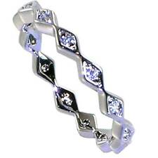 Toe Rings_Sz-4_925 Sterling Silver-Nf Brilliant Geometric Eternity Cz Band