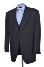 KITON Black Super 150 Wool 2 PIECE Sport Coat Jacket Vest Set - EU 54 / US 44 R