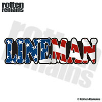 Lineman Decal Sticker American Flag USA United States Vinyl Hard Hat EMV