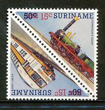 Suriname  504 - 505 postfris  motief treinen spoorwegen