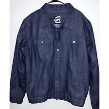 Men's Size XL Insulated Denim Coat Ecko Unltd 100% Cotton Jacket New Condition.