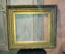 Ancien grand cadre mouluré dit Barbizon XIX ème bois stuc doré