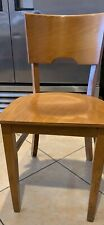Lot of 58 Restaurant Hardwood Chairs -Used Natural Wood - Very Good Condition