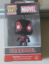 "Funko Pop! Marvel Comics Black Deadpool Bobblehead Small 1.5"" Character Keychain"