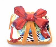 Longaberger Ceramic Pottery Gift Bow Decoration 4 Little Gifts Topper No Basket