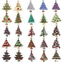 Fashion Christmas Tree Crystal Brooches Pins Womens Jewellery Party Holiday Xmas