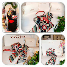 SOPHISTICATED COACH LARGE WRISTLET & MATCHING SCARF LOT!