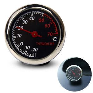 Car Mini Interior Thermometer Mechanical Analog Gauge Meter Universal Ornament