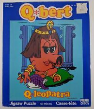 VTG Q*bert Jigsaw Puzzle Q*leopatra Parker 60 Pieces Video Game 1983 Retro Qbert