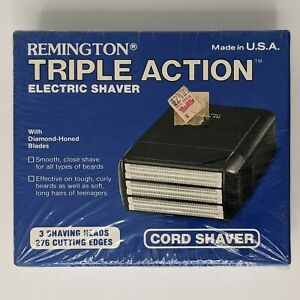 Vintage Remington PM-750 Triple Action Electric Shaver Cord Made in USA 1986 NOS