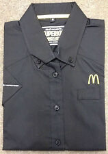 McDONALDS CREW / WORK SHORT SLEEVE SHIRT BLACK SIZE S WORKWEAR
