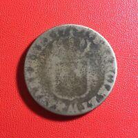 #1580 - RARE - Louis XVI Sol 1791 AA Metz - FACTURE