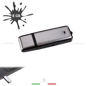 PEN DRIVE USB MINI REGISTRATORE AUDIO  VOICE RECODER 8GB MICRO SPIA CIMICE