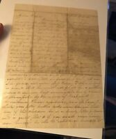 Early 1800 Handwritten Letter Cornelia Livingston to brother Robert New York NY