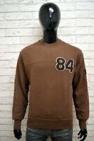 Felpa GAS Uomo Taglia Size L Maglione Pullover Cardigan Sweatshirt Man Marrone