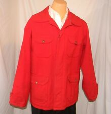 Vintage 50s to 60s Woolrich Hunting Jacket Map Pocket Lined L ~ 42