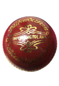Leather Cricket Ball Senior Hand Stitched Match Quality Balls Weight 5.50oz