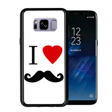I Heart Love Mustache For Samsung Galaxy S8 2017 Case Cover by Atomic Market