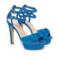 $425 NWD Loeffler Randall Dahlia Platform Sandals Azure Women's 6.5