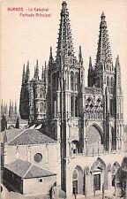 Spain postcard Burgos La Catedral Fachada Principal