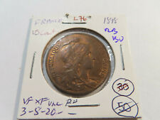 New ListingL76 France 1898 10 Centimes Red Brown Bu