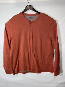 UNTUCKit Men's XL 1/4 Button Up Pullover Shirt Casual Long Sleeve Salmon Cotton
